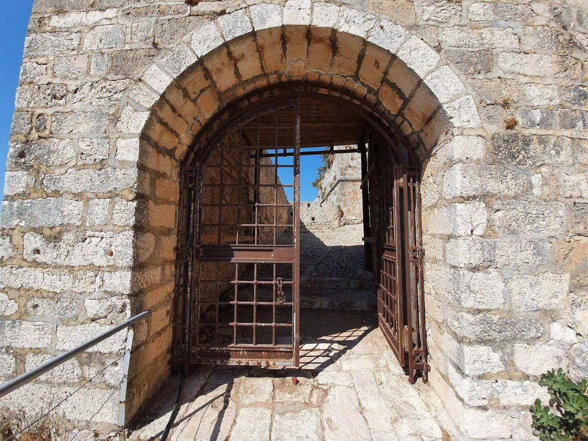 The gate to St George castle in Kefalonia