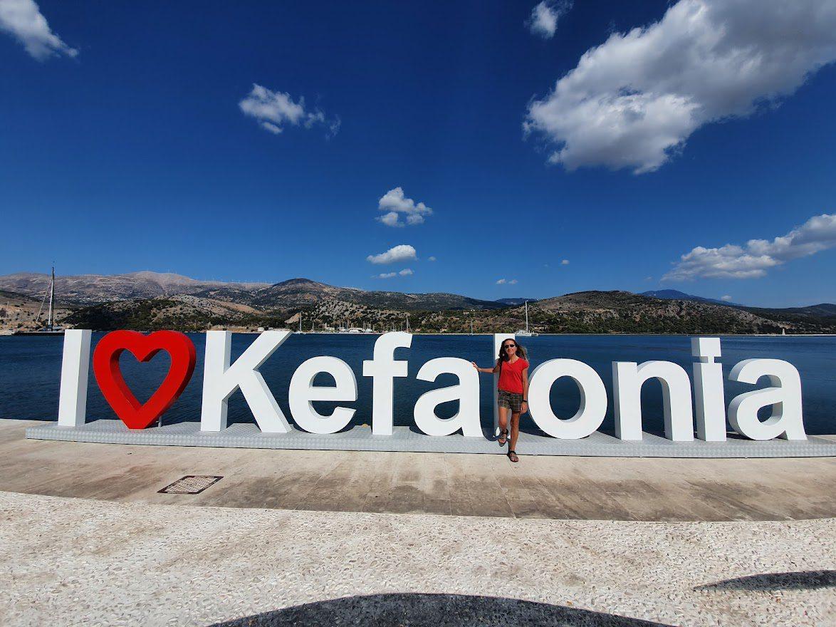 I love Kefalonia sign in Argostoli