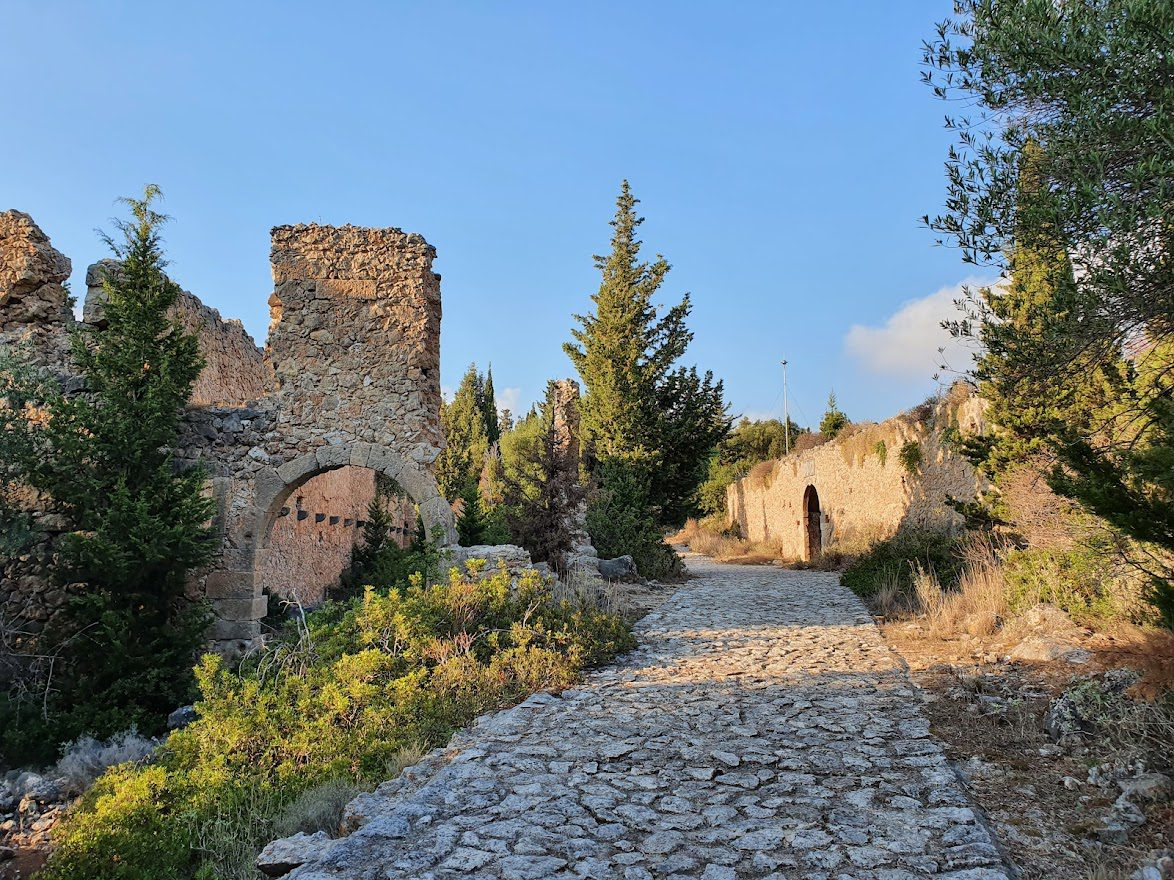 Inside Assos castle in Kefalonia