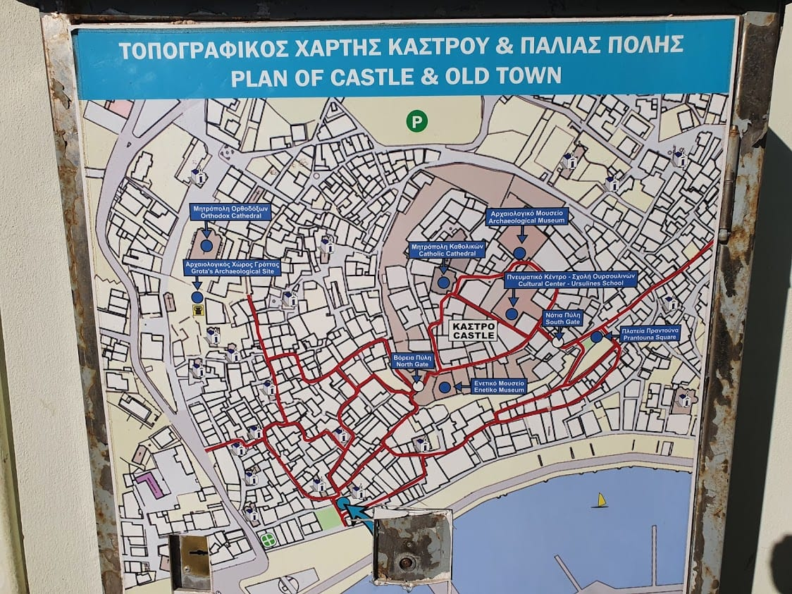 A useful map of Naxos town