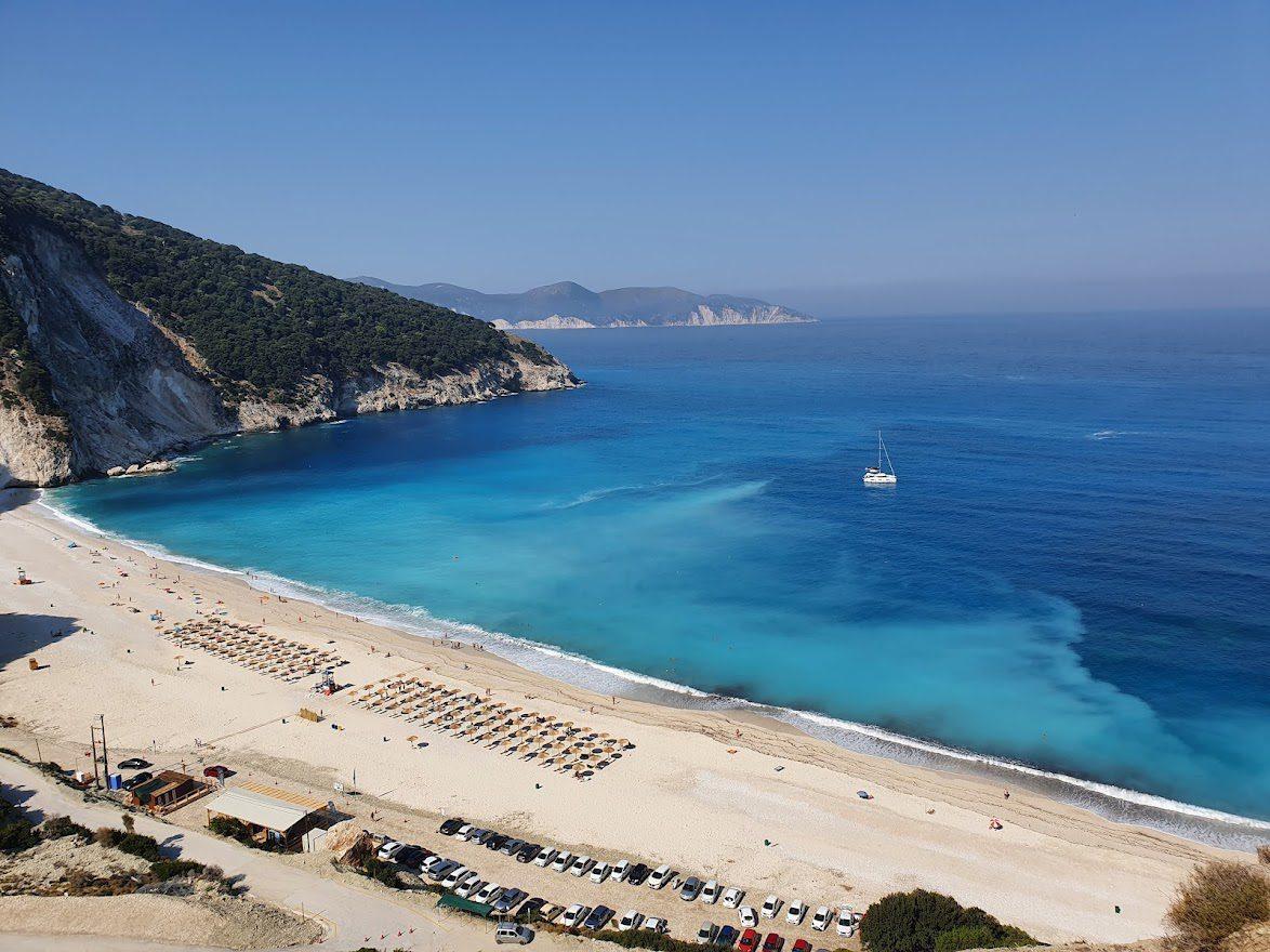 Myrtos beach in Kefalonia