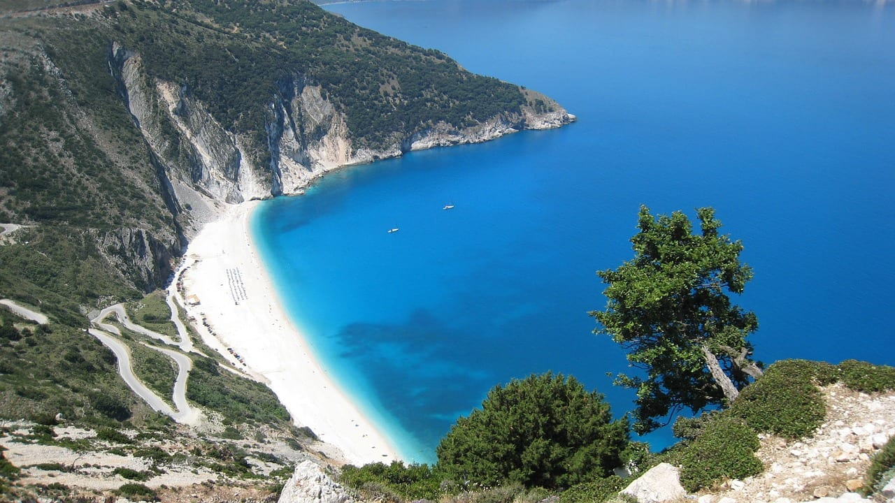 myrtos beach is one of the best beaches in Kefalonia