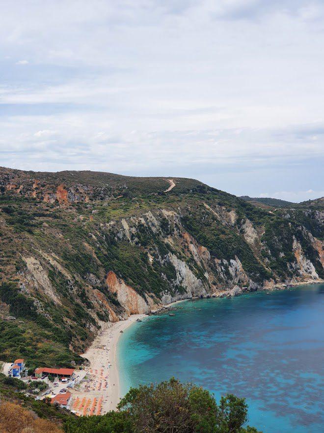 Petani Beach in Kefalonia island in Greece