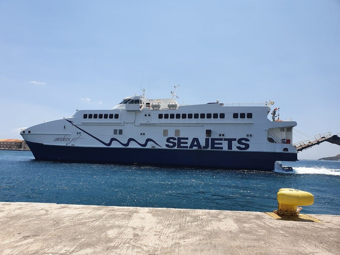 Taking the Seajets ferry to Naxos from Mykonos