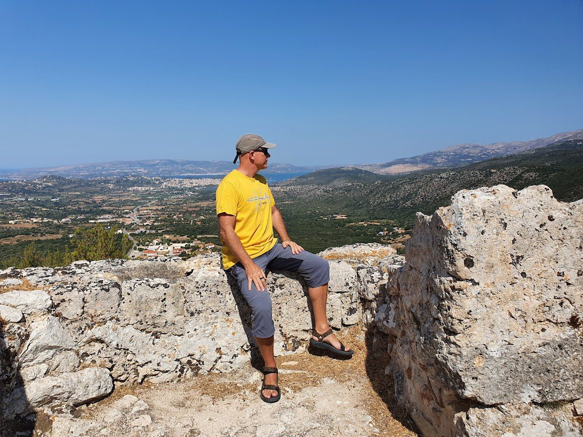 Views from the castle of St George in Kefalonia
