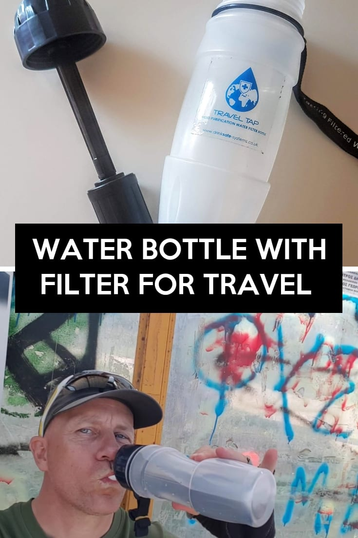 Water bottle with filter for travel - DrinkSafe Travel Tap Review