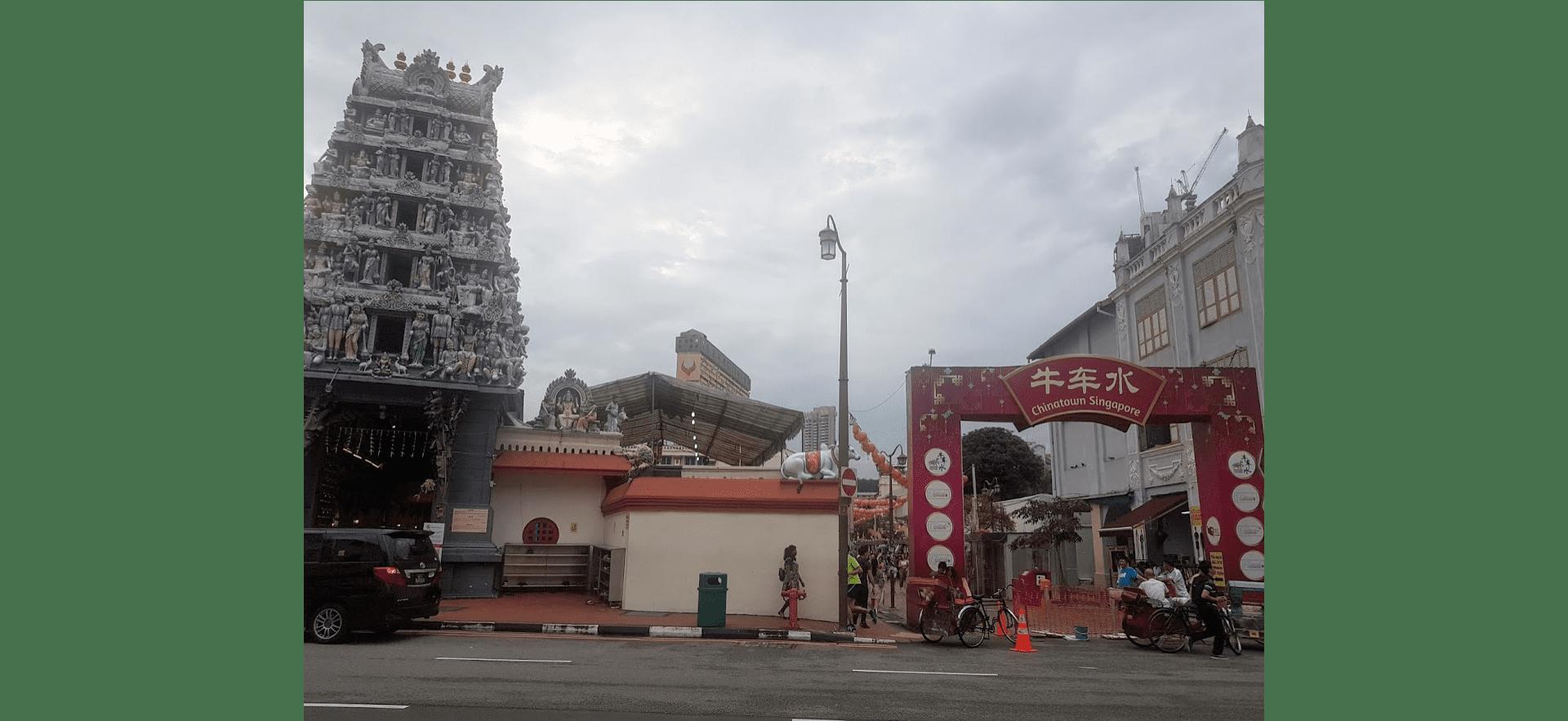 The Sri Mariamman Temple in Chinatown, Singapore