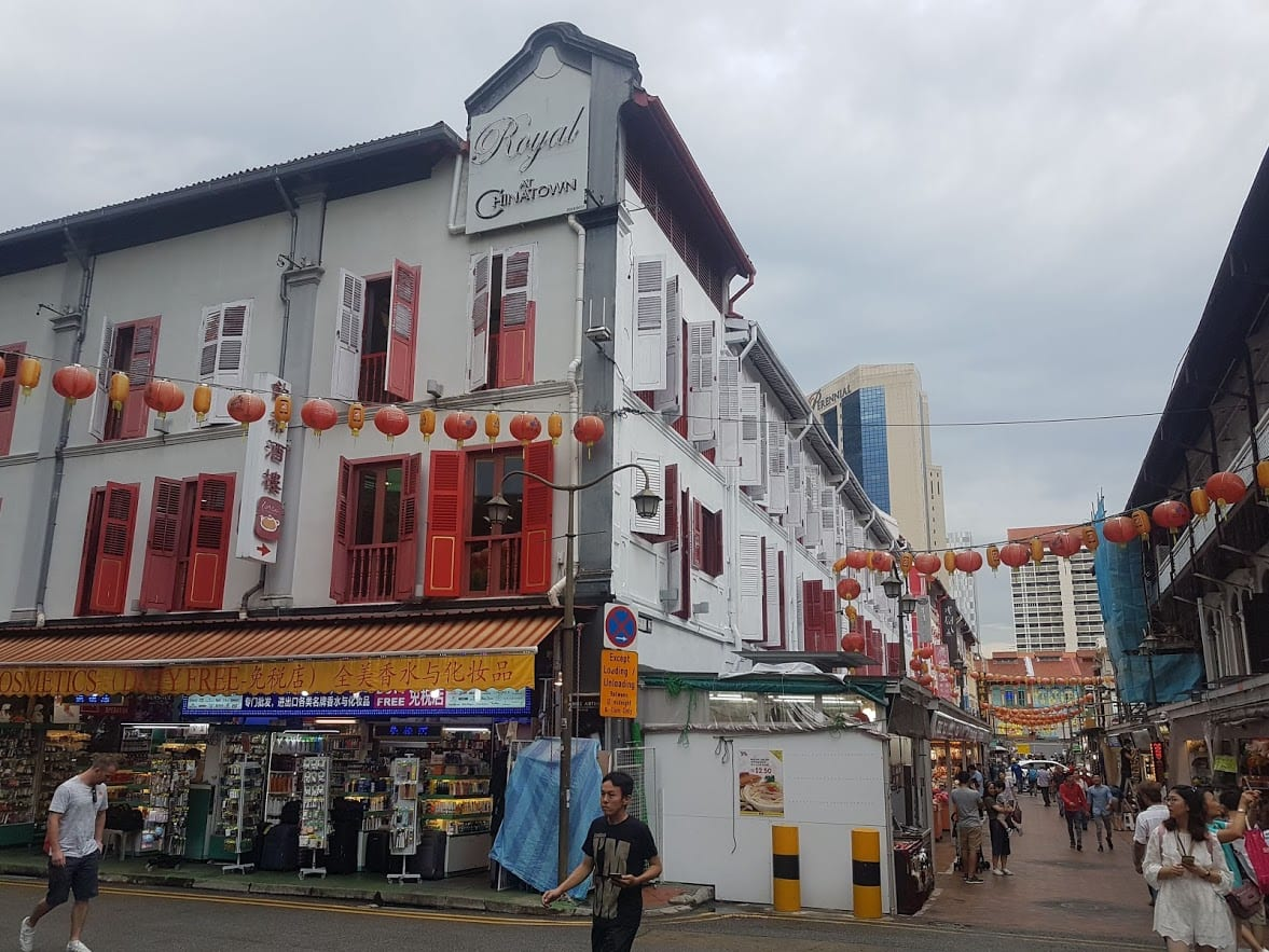 One of the streets in Chinatown, Singapore