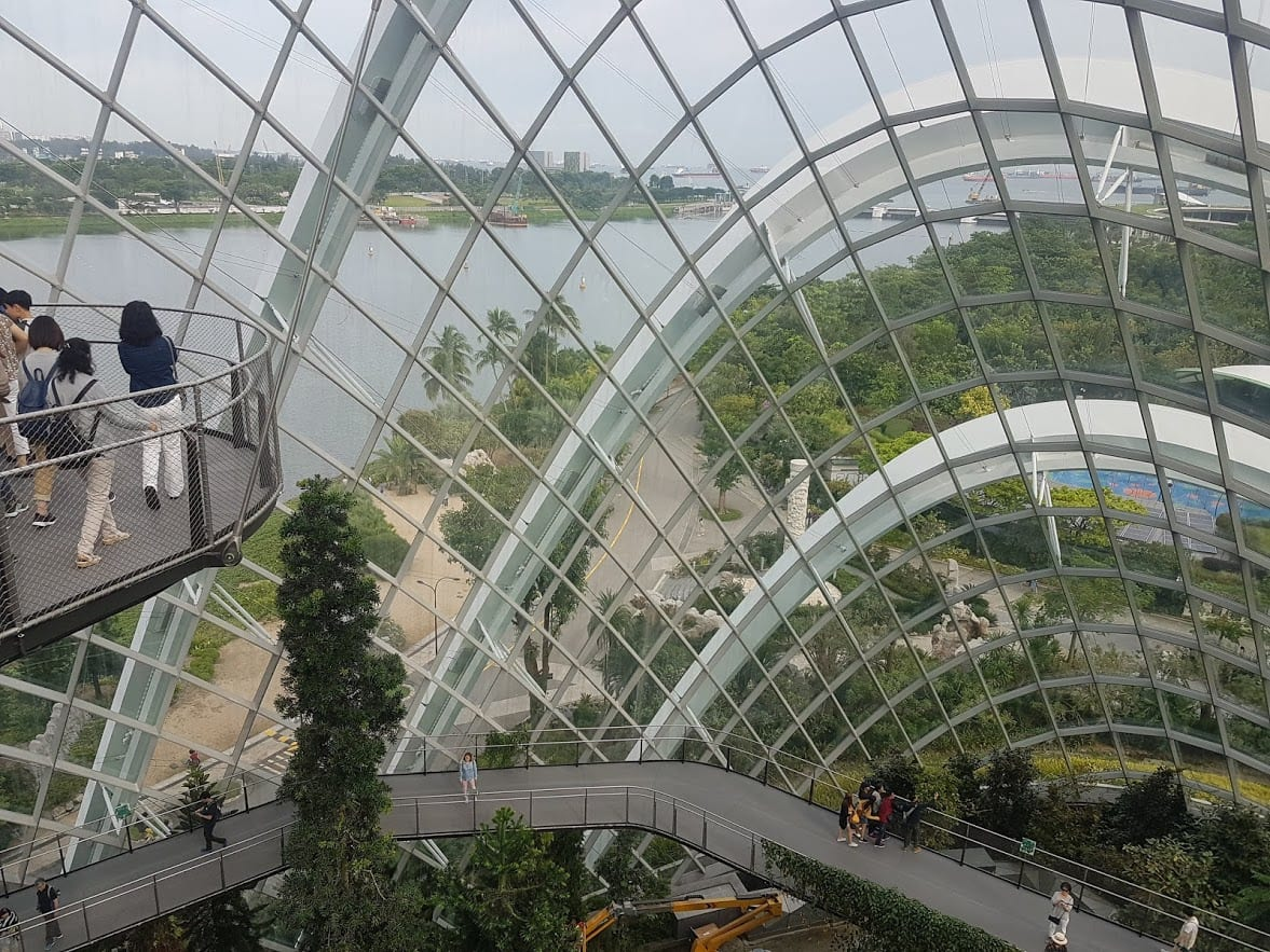 The Cloud Forest Dome at the Gardens by the Bay in Singapore