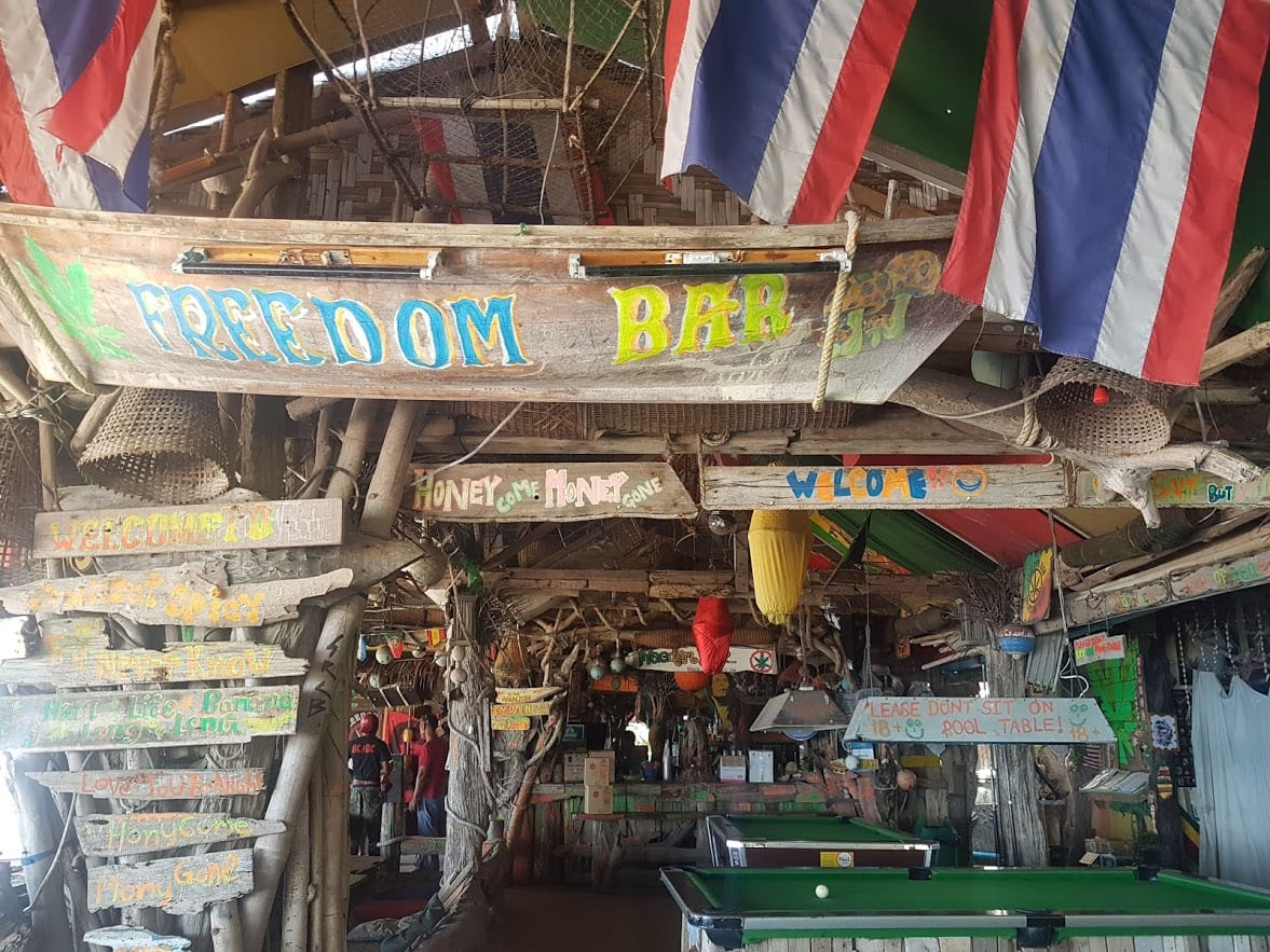Freedom beach bar in Koh Lanta