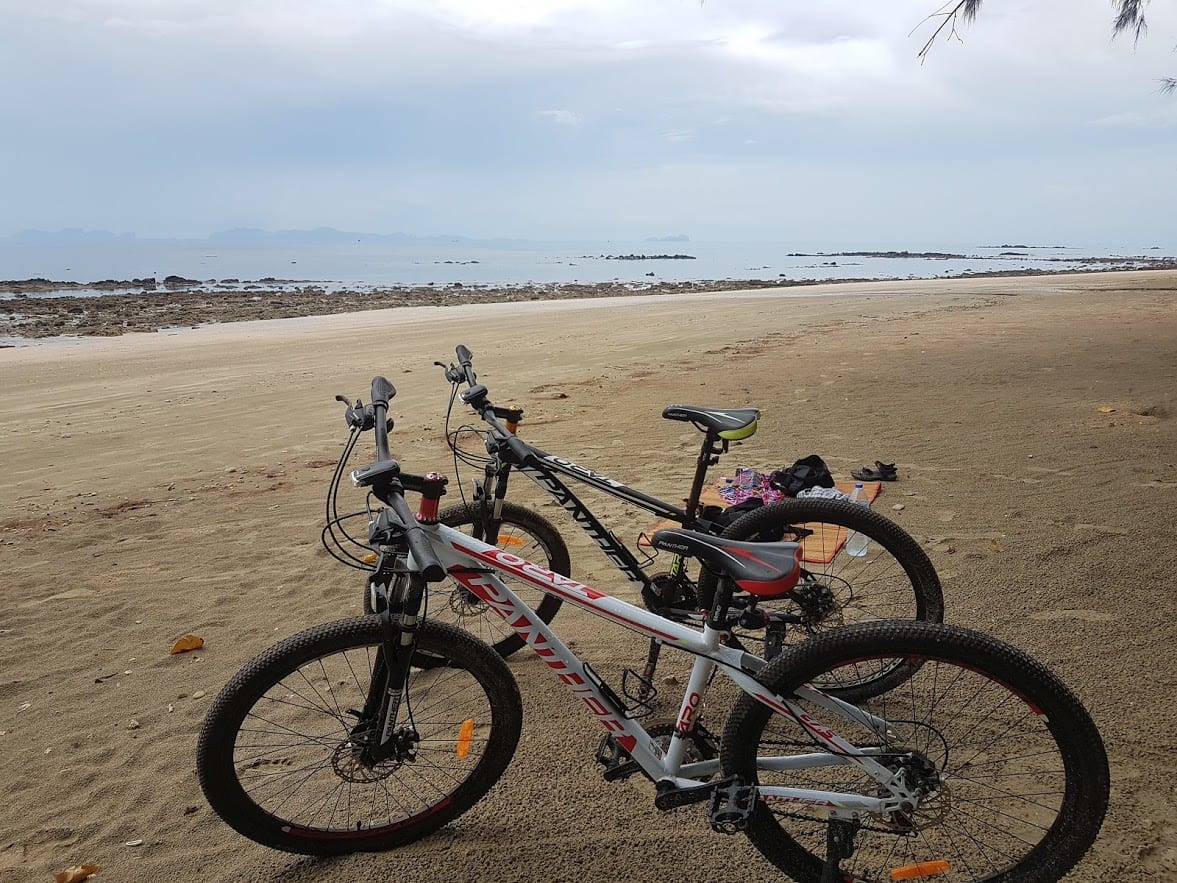 Hiring bicycles is a good way to get around Koh Jum