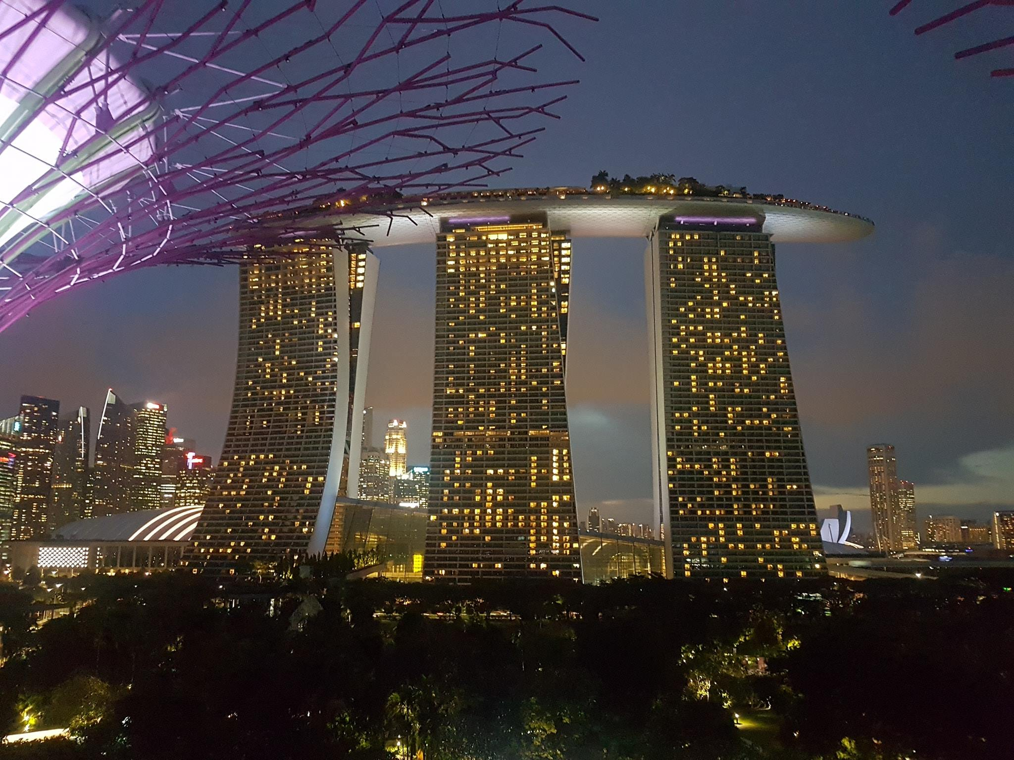 Marina Bay Sands hotel in Singapore - an incredible view at night!