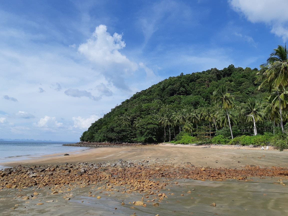 Coconut beach in Koh Jum, Thailand