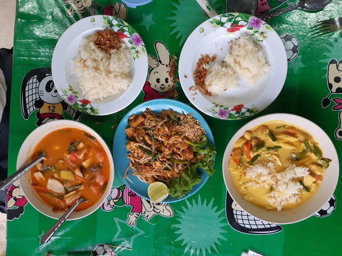 Tasty Thai food on the island of Koh Jum