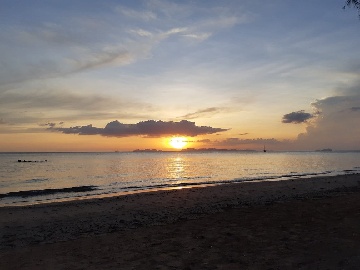 Sunset from Andaman Beach in Koh Jum, Thailand