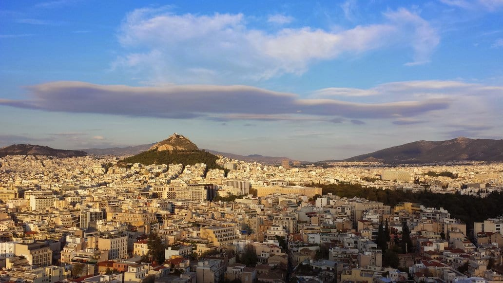The view over Athens