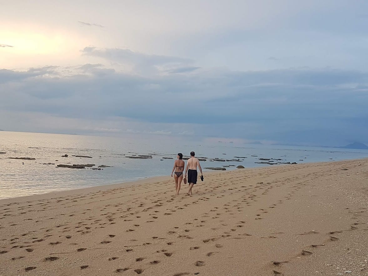 Walking on the beaches in Koh Lanta