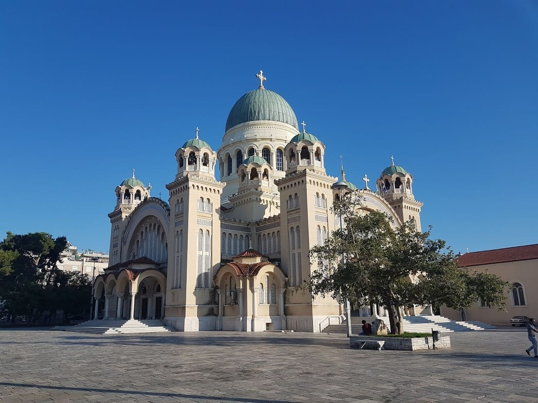 The huge church in Patras is a must see when in the city