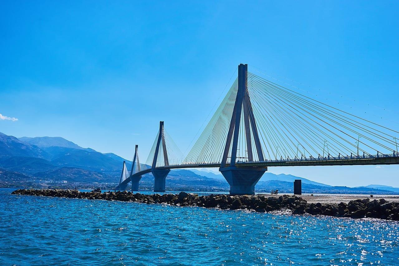 Patras bridge in Greece