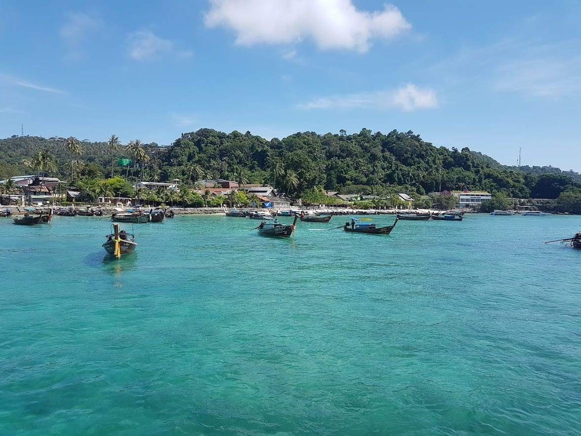 A quick stop at the Phi Phi islands on the boat from Phuket to Koh Lanta