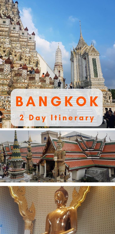 Bangkok Thailand: A perfect two day itinerary to see the main sights with 2 days in Bangkok, Thailand.