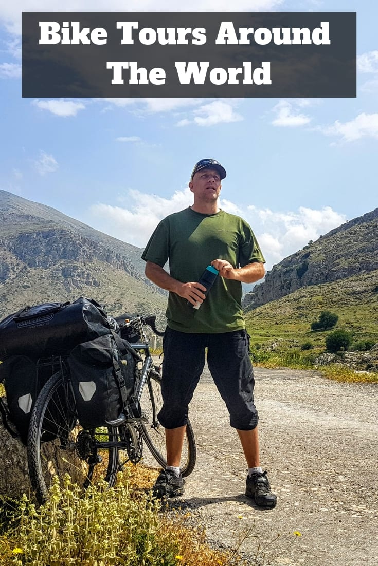 Bike Tours Around The World: A look at some of the cycling trips I've taken around the world, including cycling from Alaska to Argentina, biking from Greece to England, and cycling from England to South Africa.