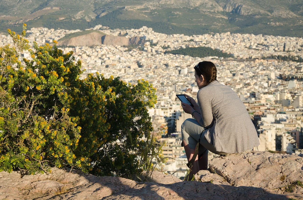How to see Athens in one day - Enjoying the view on Areopagus hill in Athens