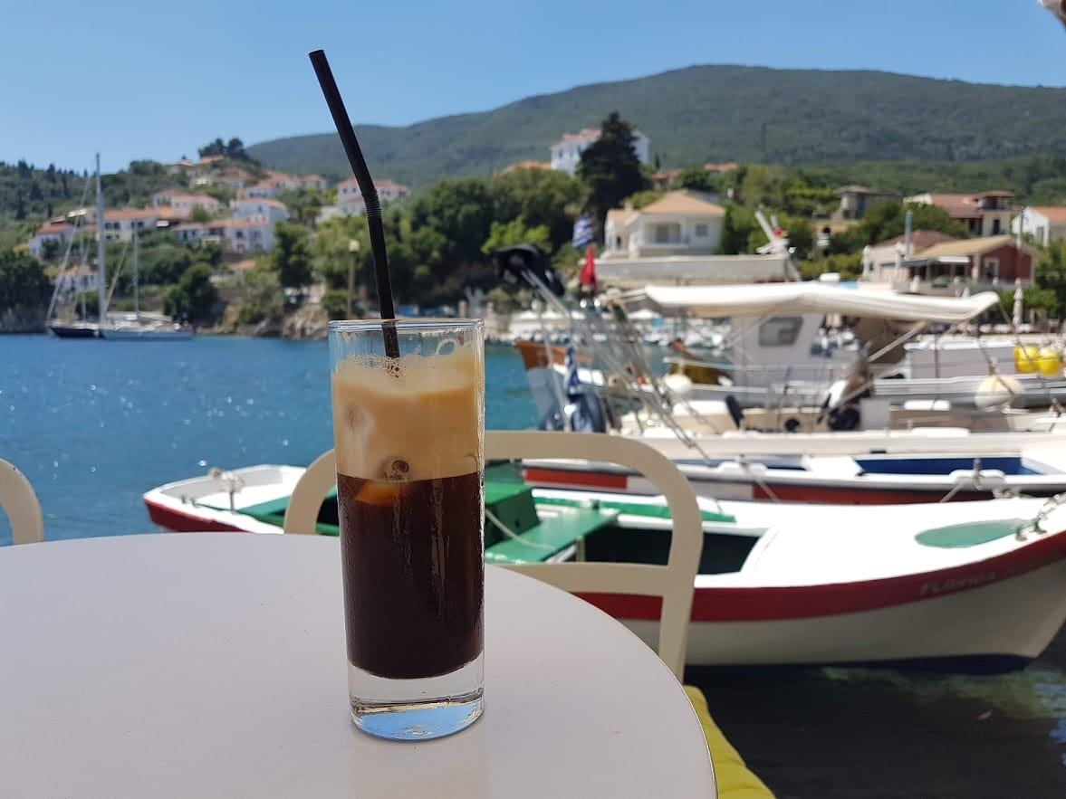 Coffee in Greece - Nothing quite beats relaxing with a cold coffee in the Greek summer!