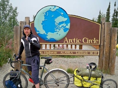 Dave Briggs cycling in Alaska