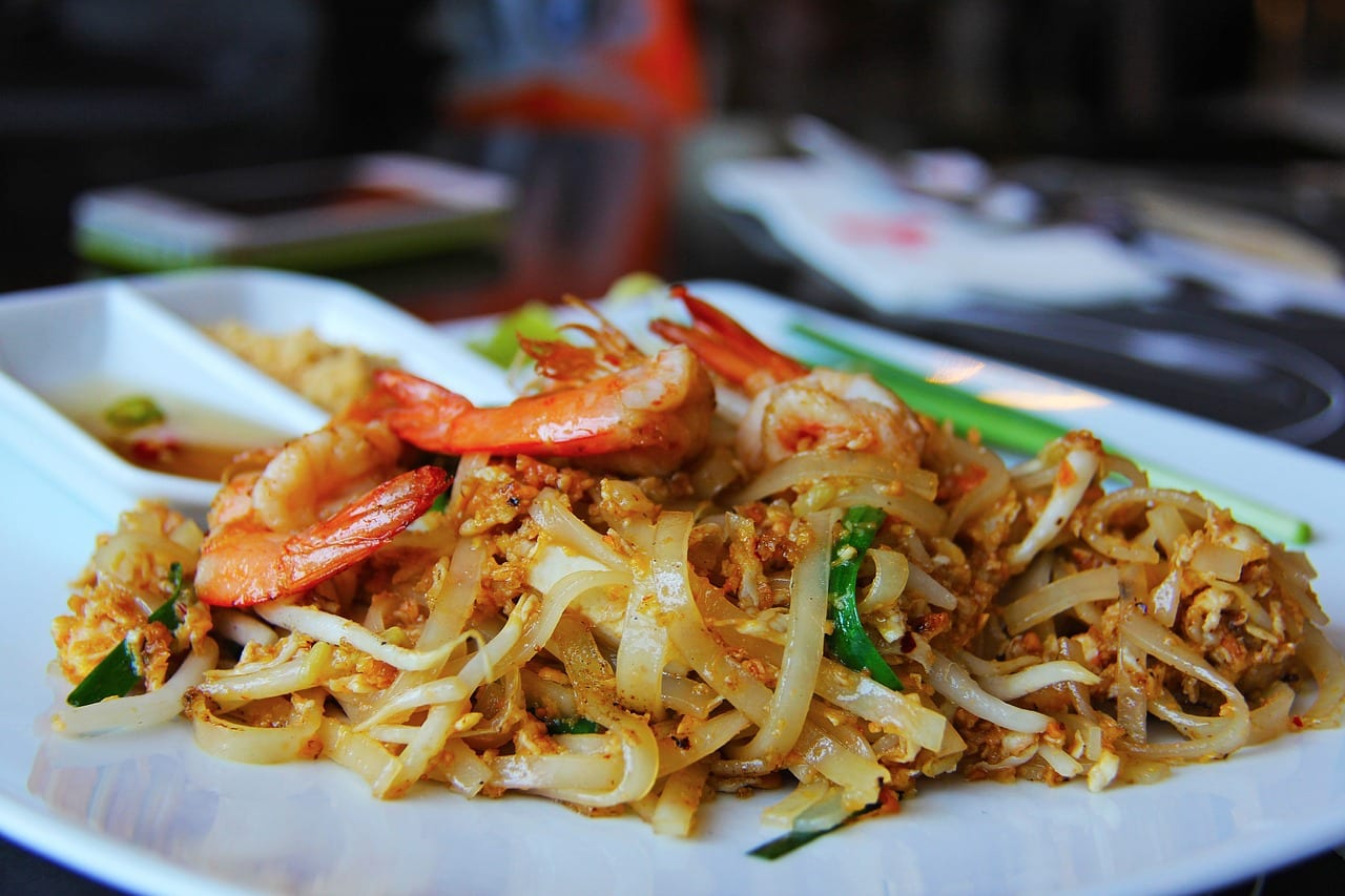 Pad Thai is one of the many Thai food dishes you need to try when spending two days in Bangkok