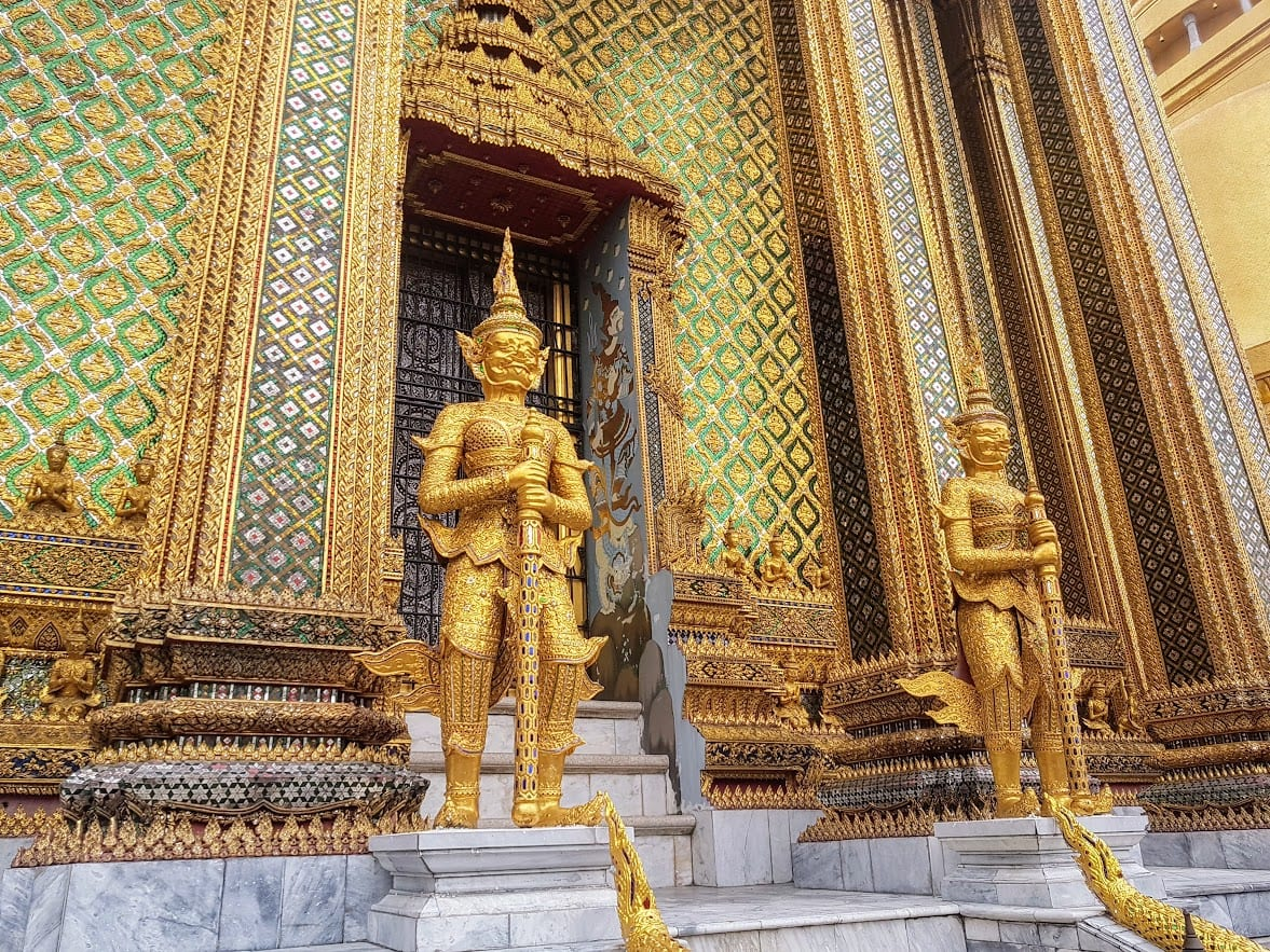 Inside the Golden Palace of Bangkok, Thailand. An absolutely essential place to include on your itinerary for sightseeing in Bangkok in 2 days.