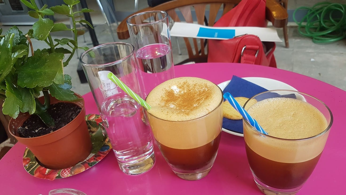 Two cold coffees in Greece