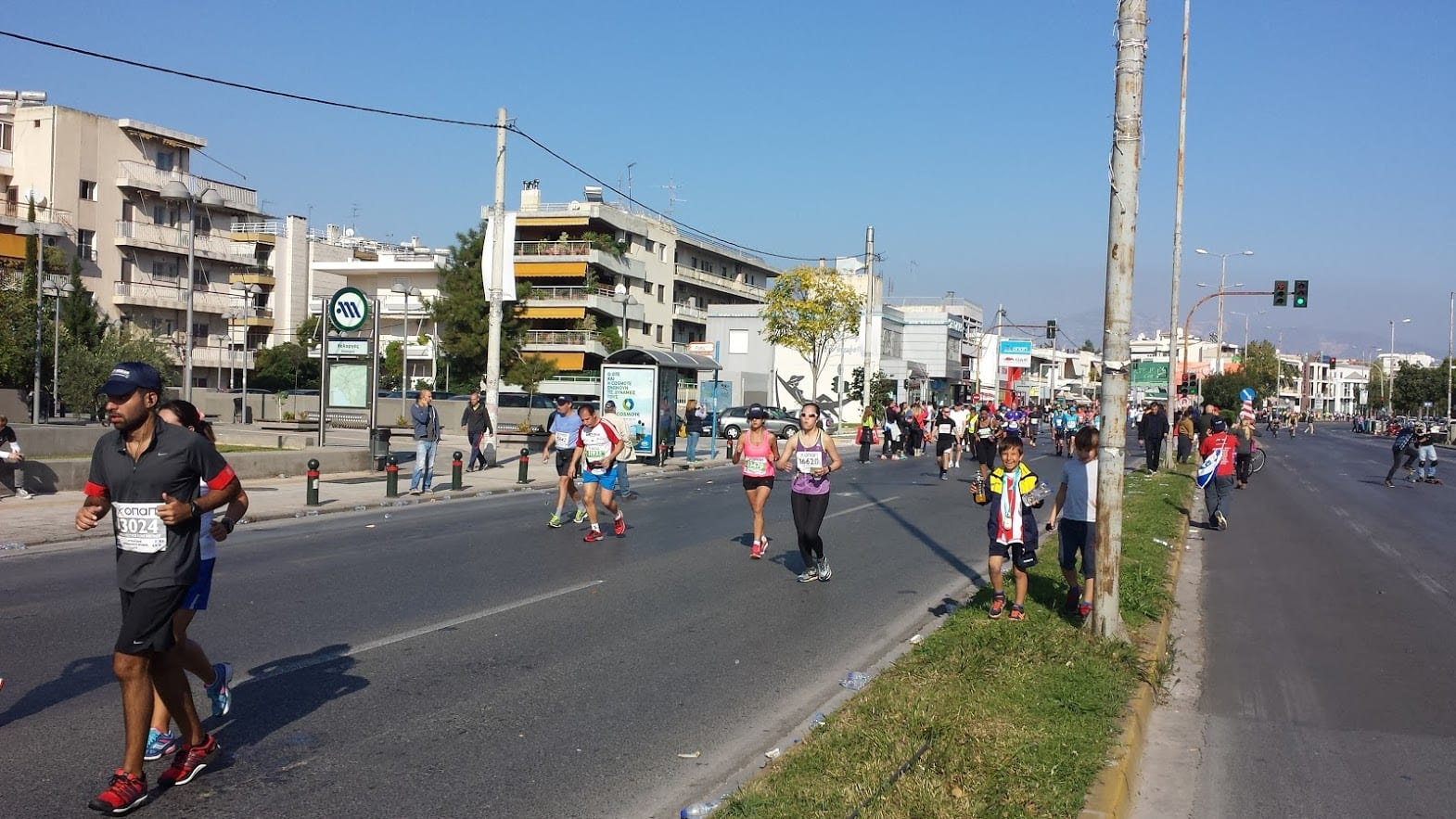 The main road from Marathon to Central Athens is closed during the authentic Athens Marathon.