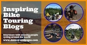 Inspiring interviews with people cycling around the world