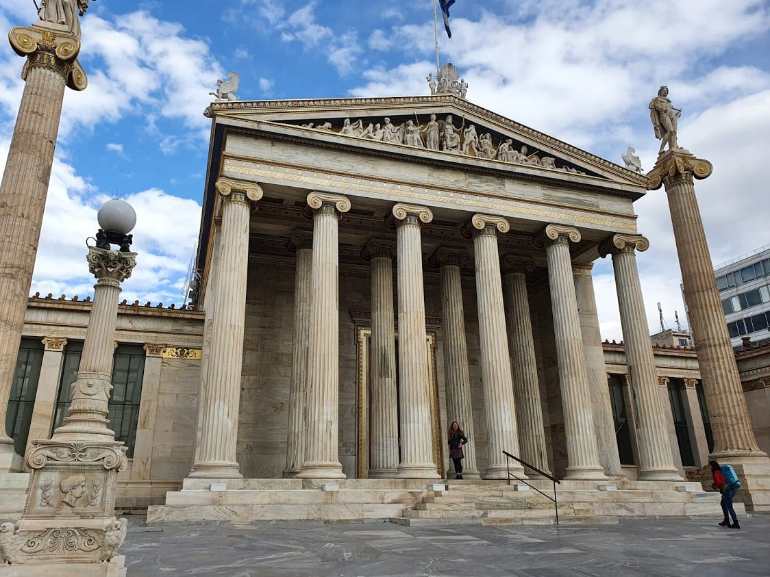 The Academy neoclassical building in Athens