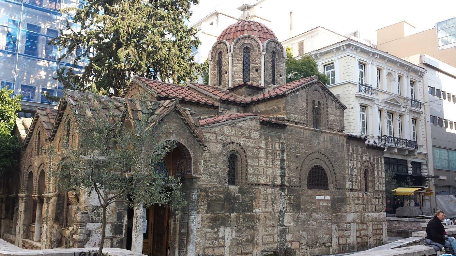 The church on Ermou street in Athens