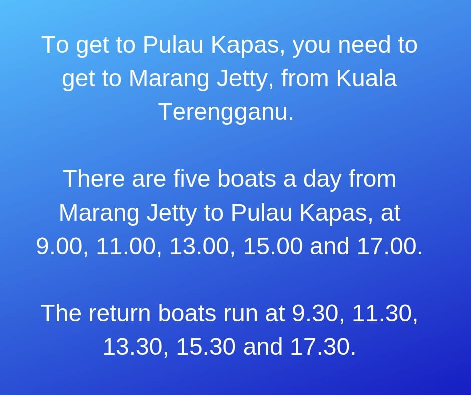How to get to Kapas Island in Malaysia