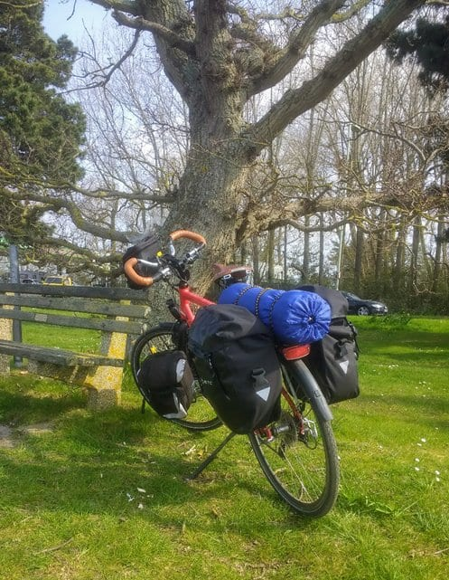 James Thomas bicycle touring in the UK for charity