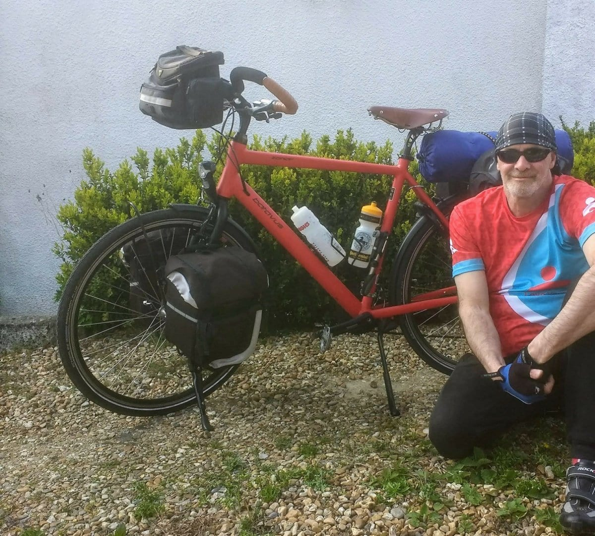 James Thomas cycling for charity in the UK