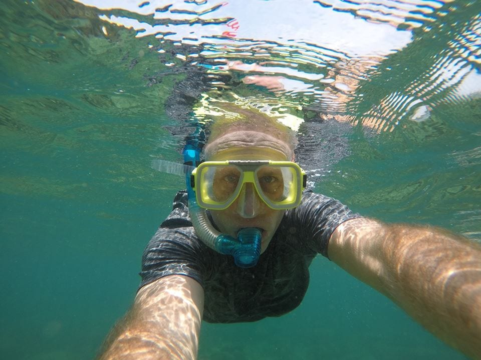 Snorkelling on Kapas Island in Malaysia