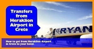 A complete guide to transfers from Heraklion Airport in Crete using taxi and bus.