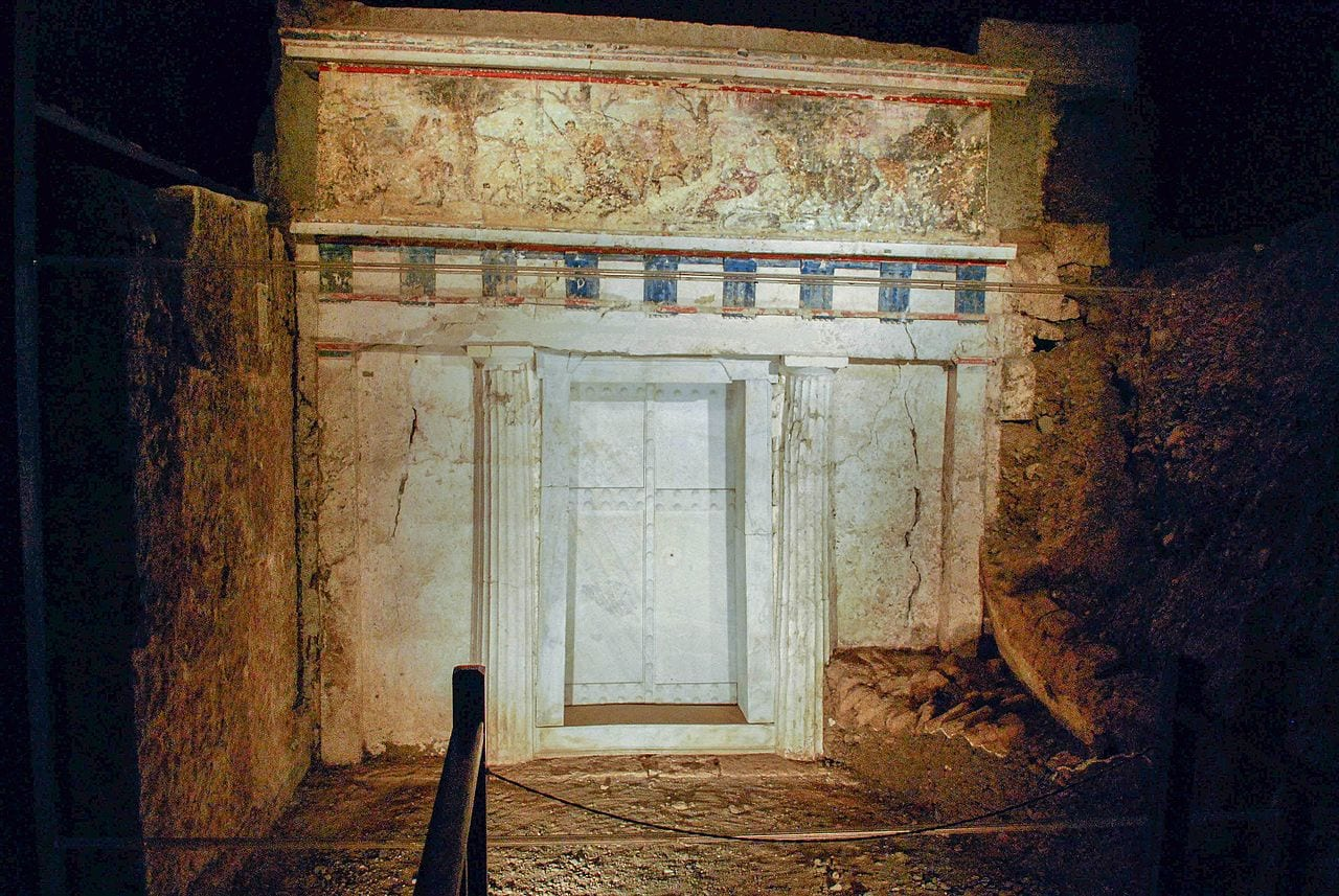 The tomb of Phillip II at the UNESCO site of Aigai in Greece