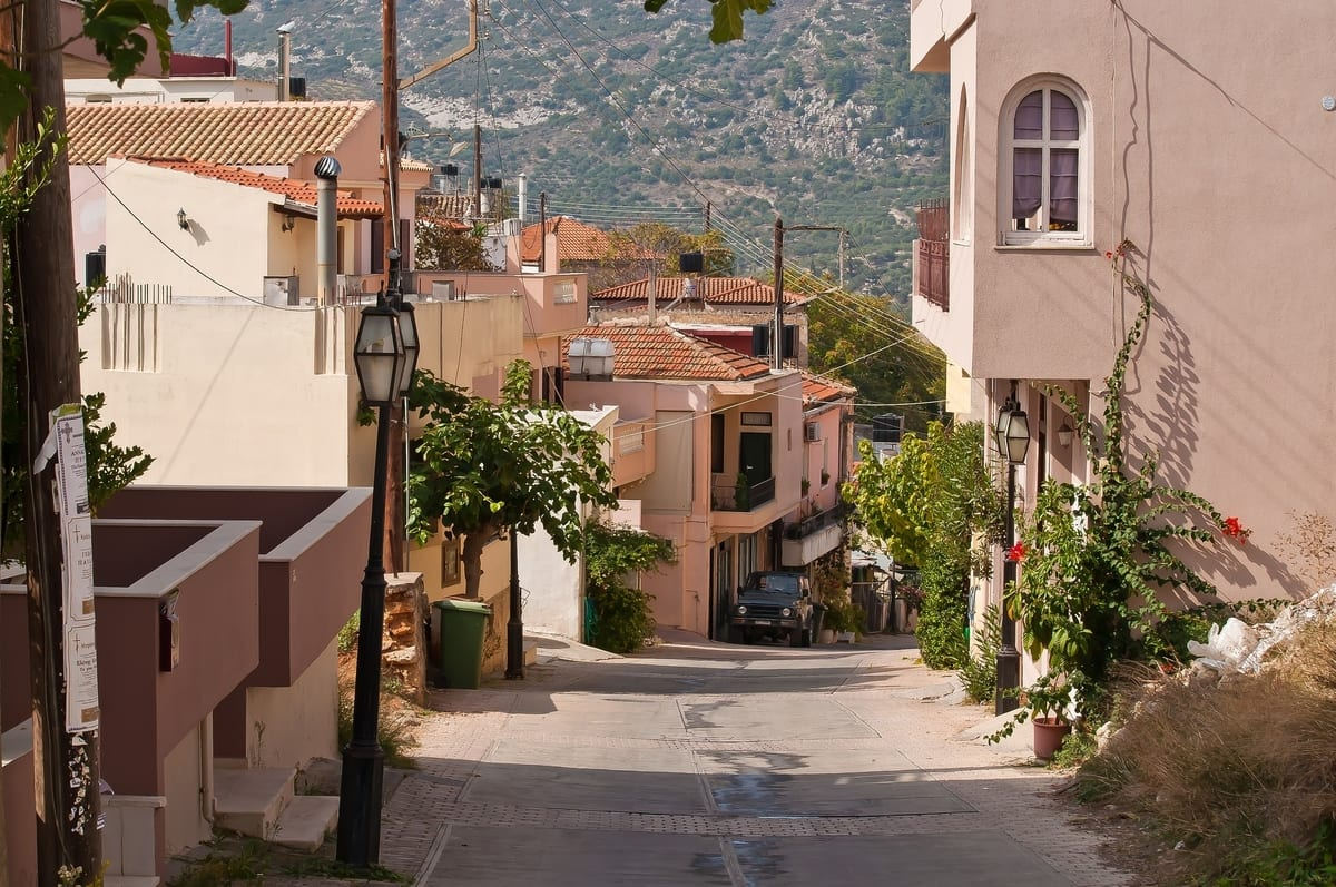 Exploring Crete on a road trip is a great way to see some of the villages such as Archanes in Crete