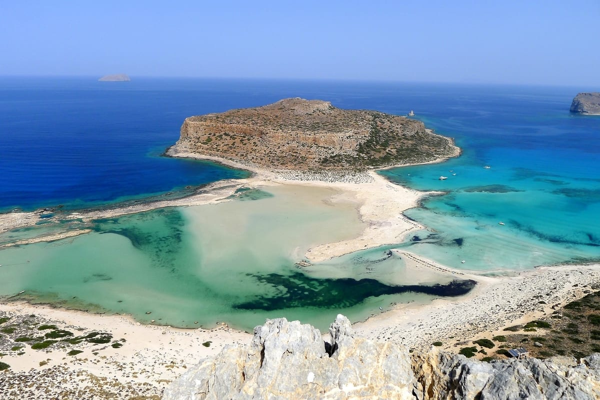 Balos Lagoon in Crete is a great place to visit in the quieter off season months.