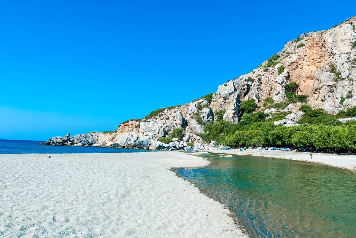 Enjoy Previli beach to yourself when visiting Crete in October