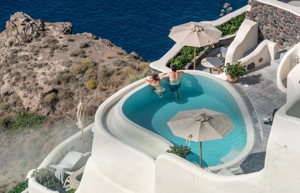 Santorini is a good Greek island to visit in October