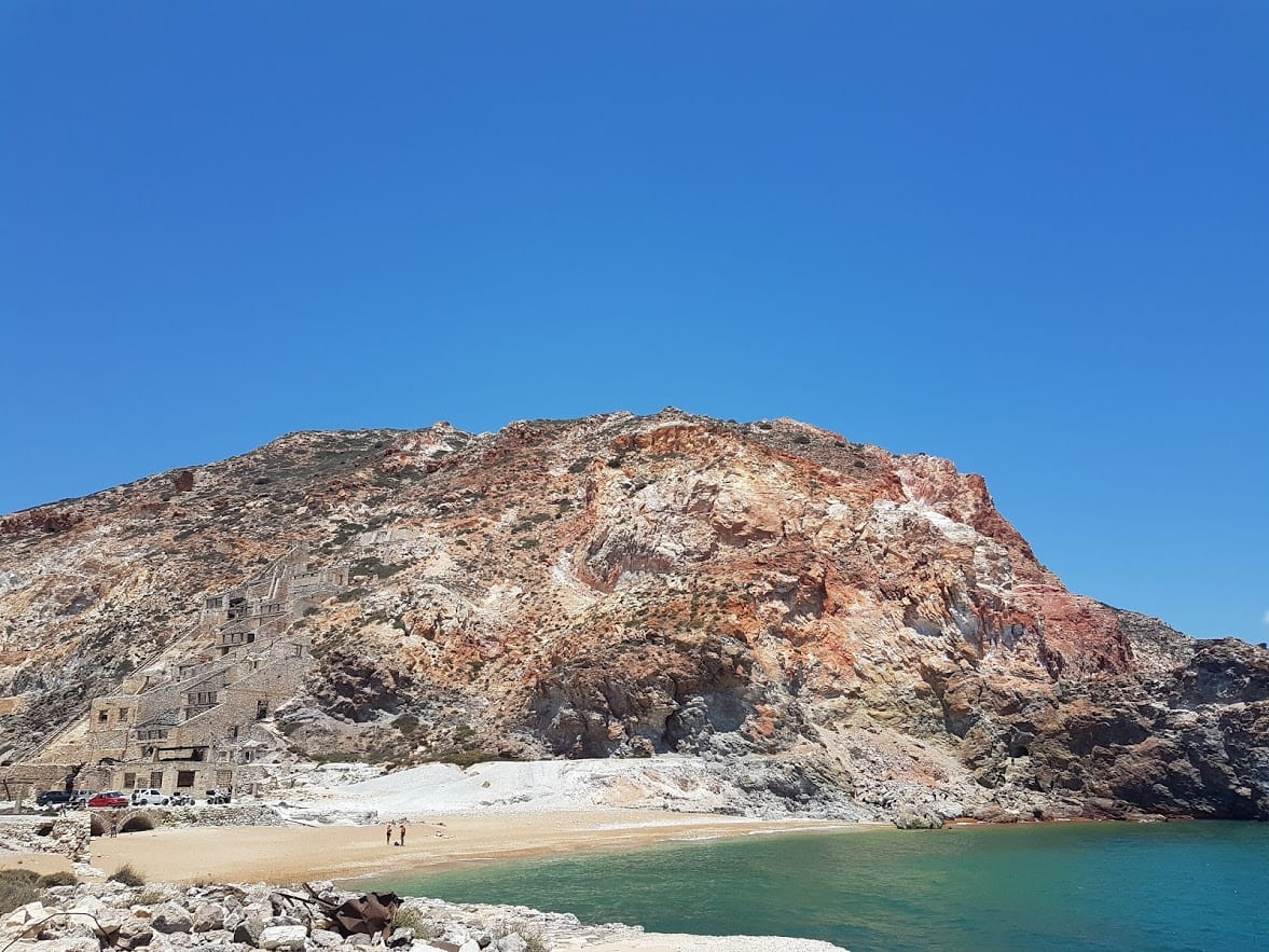 A look over Thiorichia Beach in Milos