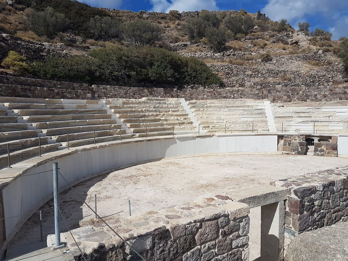 The newly opened ancient theatre in Milos
