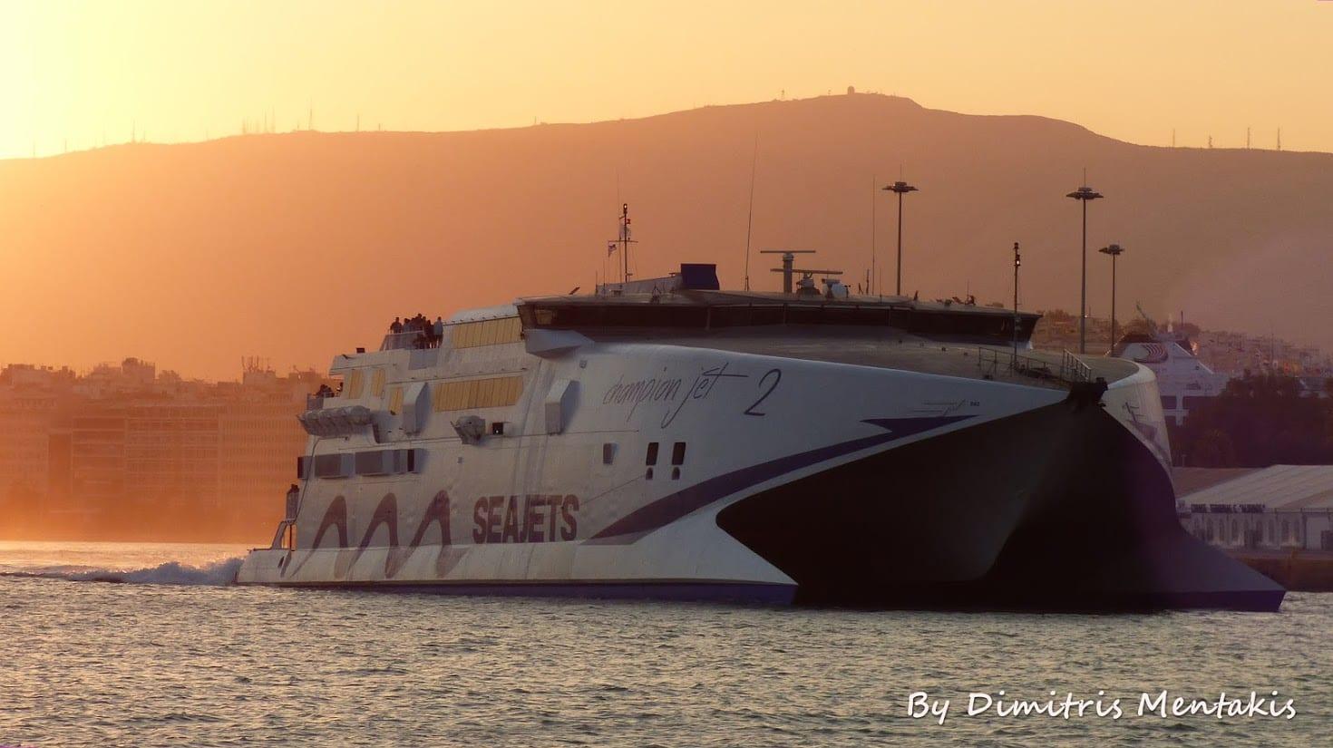 Seajets Champion Jet 2 Mykonos to Santorini ferry