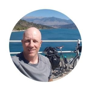 Dave at Dave's Travel Pages - Greece travel blog and bike touring guides
